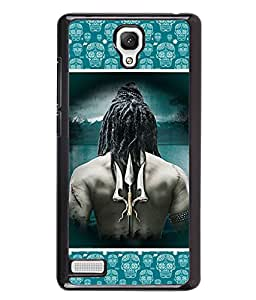 PrintVisa Metal Printed Lord Shiva Designer Back Case Cover for Xiaomi Redmi Note 4G -D4728