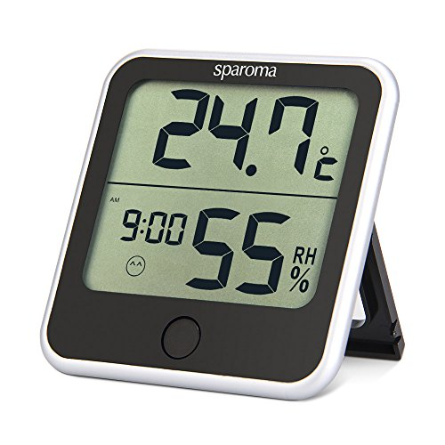 Sparoma innen digital Thermo-Hygrometer Temperatur und Luftfeuchtigkeitmessgerät