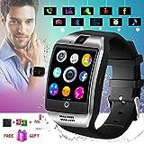 Bluetooth Smartwatch Touchscreen Kamera Wasserdicht Smart Uhr Sport Smart Watch mit Whatsapp Bluetooth Uhr Handy Intelligente Armbanduhr Kompatibel IOS iPhone Andriod Samsung Huawei für Herren Damen