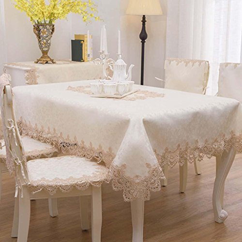 AISHUAIGE Gestickte Tischdecke Lace Bedside Cabinets Cover Tuch Couchtisch Tuch, 130 * 180cm - Cabinet Cover