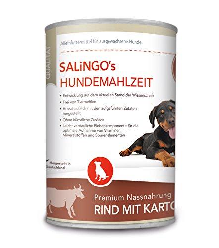 SALiNGO Hundefutter nass, Rind mit Kartoffeln und Karotten, getreidefrei (400g)