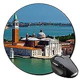 Basílica De San Giorgio Maggiore Venecia Italia Venice Italy Mauspad Round Mousepad PC