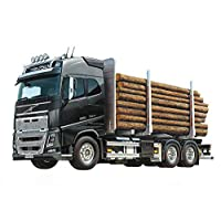 Tamiya 300056360 56360-1 Volvo FH16 Wood Truck RC Truck Remote Controllable Truck Model Construction Kit Truck Unpainted