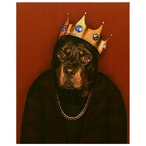 Empire Paintball Empire Art Direct Pets Rock Big Hund Fine Giclée-Graphic Wand, Baumwolle, Rot, 40,6x 50,8cm