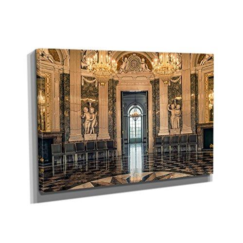 Nerdinger Barock Festsaal - Kunstdruck auf Leinwand (90x60 cm) zum Verschönern Ihrer Wohnung....