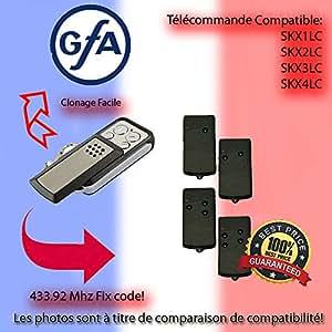 Télécommande 433.92 MHz Pour GFA SKX1LC, SKX2LC, SKX3LC, SKX4LC Remplacement,Clone