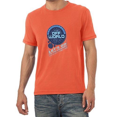 TEXLAB - Off World Colonies - Herren T-Shirt Orange