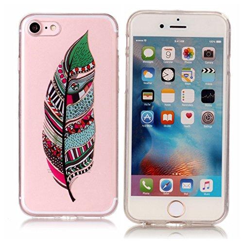 iPhone 7 Silikon hülle, iPhone 7 Bling Bling Case, BONROY® TPU Silikon Handy Hülle Schutzhülle für iPhone 7 (4,7 Zoll), Ultra Slim Scratch-Resistant Bumper Back cover TPU Protective Bumper für iPhone  Stammesfedern