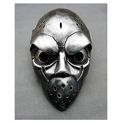 YaPin Sammleredition Korean Street Hockey Spiel Slapshot Maske Hockey Maske (Color : Silver)