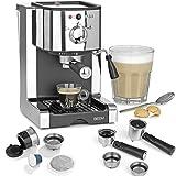BEEM ESPRESSO PERFECT | Espresso-Siebträgermaschine mit Kapseleinsatz für Nespresso(*) Kapseln - 20 bar | BASIC SELECTION | Milchschaumdüse | Kaffeepulver, pads, kapseln