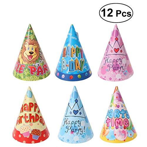und Haustier Happy Birthday Party Hut 6 Stile mit Bunten Muster Design Cosplay Kostüm Zubehör (Boston Terrier Kostüm Für Baby)