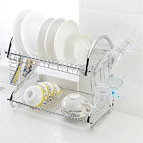 chinkyboo-kitchen-2-tier-chrome-cutlery-dish-plates-cup-drainer-drip-tray-rack-holder