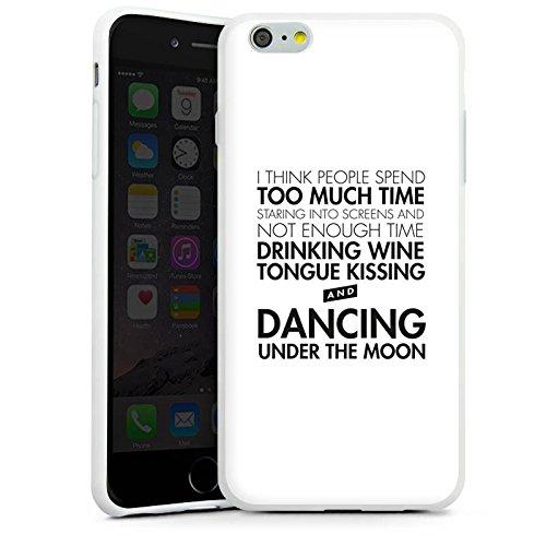 Apple iPhone X Silikon Hülle Case Schutzhülle Liebe Sprüche Tanzen Silikon Case weiß