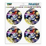 Solarsystem Planeten Space Earth Saturn Jupiter Mars Kühlschrank Schließfach Vinyl Kreis Magnet Set
