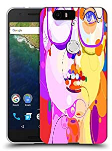 Snoogg Girl With Specks Designer Protective Back Case Cover For Huawei Nexus 6P