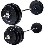 Trex Langhantel-Set Langhantel Gewichte 30 kg oder 56,5 kg zur Wahl (30kg)