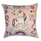 Unicorno cuscino rosa