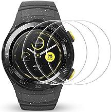 Protector de pantalla para Huawei Watch 2, AFUNTA 3 Pack de películas de protección de vidrio templado Anti-Scratch cubierta de alta definición para Smartwatch