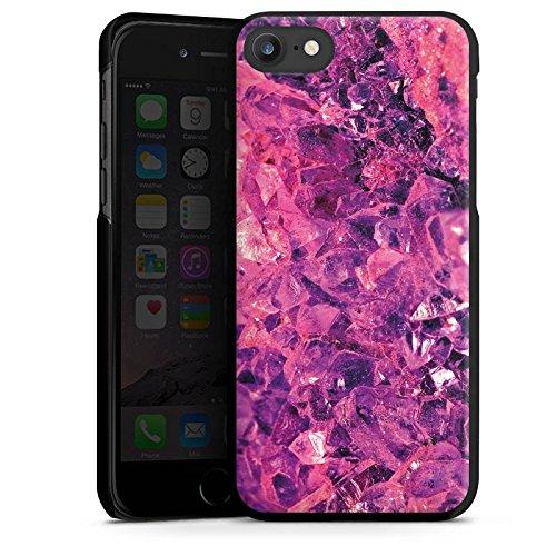 Apple iPhone X Silikon Hülle Case Schutzhülle Kristall lila Muster Edel Hard Case schwarz