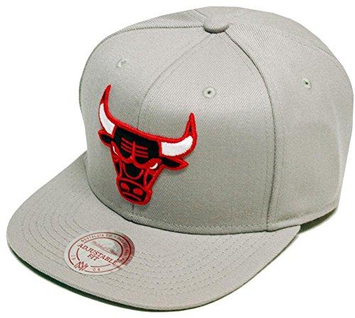 Mitchell & Ness Chicago Bulls Wool Solid Grey Snapback Cap NZ979 Kappe Basecap