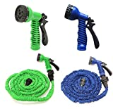 50FT Water Pipe Working Lenght 15M Retractable Hose Garden Water Hose+Spray Gun
