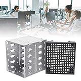 Jinclonder Aufbewahrungsbox, Edelstahlmaterial, Multi-Layer-Stapelbar, 5,25