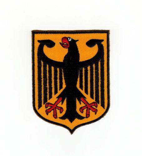 Aufnäher Bügelbild Aufbügler Iron on Patches Applikation Flagge Wappen Deutschland Adler Bundesadler -