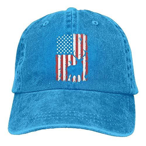 Preisvergleich Produktbild Vidmkeo Unisex Adjustable Denim Jeans Baseball Caps Deer Hunting Us Flag Plain Cap Unisex46