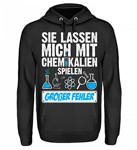 Kapuzenpullover Hoodie - Chemie Mit Chemikalien Spielen Chemiker Humor Labor Wissenschaft Cooler & Lustiger Spruch (Cooler Spiele)