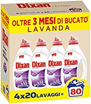 Dixan Lavanda Detersivo Liquido Lavatrice, Tecnologia Pulito Profondo, Confezione da 4 x 20 Lavaggi
