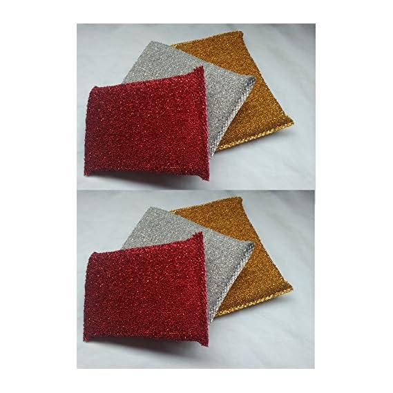 Buy VEDANT 6 pcs Multi colour Foam Pad Sponge Scourer Kitchen Scrubber for Dish/Utensils/Tiles cleaning HEAVY QUALITY (20mm)