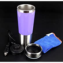 450ml Stainless Steel Electrical Heating Cup, Dc 12V, Used In Car Cigarette Lighter Socket, The Water Be Boils Only Need 10 Minutes, Holiday Gift,Used For Coffee, Hot Drinks On Car To Travel