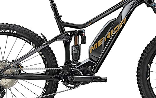 Unbekannt Herren E-Mountainbike 27,5 Zoll - Merida eONE-Sixty 900E - Shimano Steps E8000 Mittelmotor, Akku 500Wh, matt schwarz-Gold