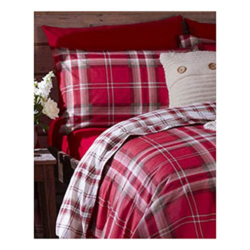 Catherine Lansfield Kelso Cotton Rich Double Quilt Set, Red