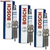 3 Bosch Zündkerzen Set Nickel