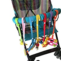 Tukistore Pacifier Chain Baby 7pcs Anti Drop Toy Bottle Clasp Pacifier Clips Hanger Strap Belt for Stroller Car Seat High Chair