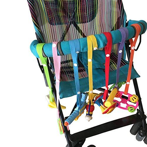 Bambini catenelle clip ciuccio,tukistore 7pcs anti goccia giocattolo bottiglia catenaccio ciuccio clip hanger strap belt per passeggino seggiolino auto seggiolone