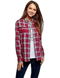 Amazon.fr   carreaux - Chemisiers et blouses   T-shirts, tops et ... 44b9dedfd6b2