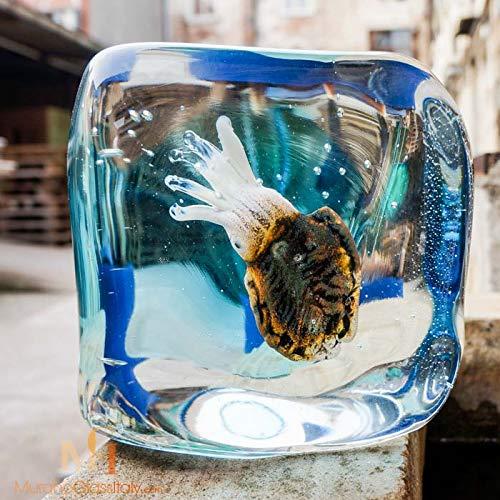 Aquarium Aus Murano, Figuren Aus Muranoglas, 18 cm Höhe, Hergestellt in Italien -