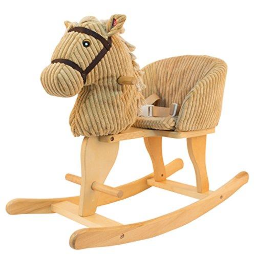 Lazy sofa cavallo a dondolo semplice assemblaggio in legno massello musica sedia a dondolo di 1-5 anni di età bambino giocattolo regalo li jing shop (colore : light brown)