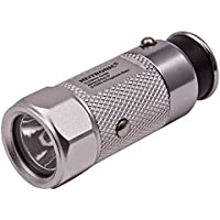 Heitronic podómetro Azul con linterna LED y emergencia sirena 120dB, medición de distancia y calorías