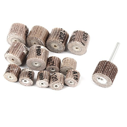 Sourcingmap - Ruote lamellari abrasive, forma cilindrica, 14 in 1, 7 tipi