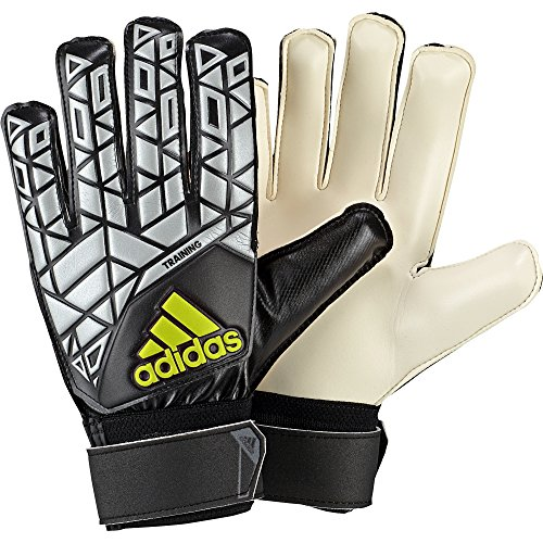 adidas Erwachsene Ace Training Torwarthandschuhe, Black/Silver Met./Solar Yellow, 11.5