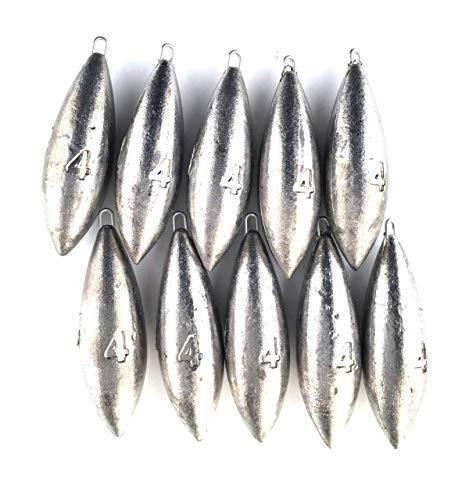 bzs Lot de 10 plombs Bombe de pêche pour pêche en mer...