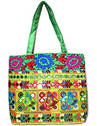 Great Gifts Rajasthani Mirror Work & Embroidered Mulit-Color Sling Bag For Ladies & Girls - B076JJ815B