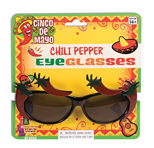 Forum Novelties 74554 Chili Pepper Brillen, One Size