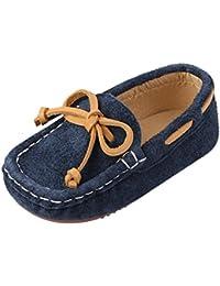 4bfb9f11417 Chic-Chic Chaussure Bateau Mocassin Enfant Bébé Loisirs Confort Chaussures  Fille Garçon Cuir Suédé Plates