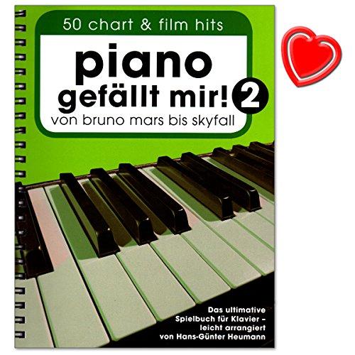Preisvergleich Produktbild Piano gefällt mir Band 2 (Spiralbindung) - 50 Chart a Film Hits. Von Bruno Mars bis Skyfall. Das ultimative Spielbuch für Klavier von Hans-Günter Heumann - mit bunter herzförmiger Notenklammer