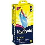 Marigold en Nitrile Taille Medium/Large/Extra fort alimentaire gants jetables, boîte de 40 Bleu