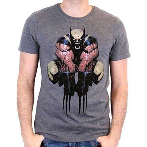 Camiseta de hombre de Wolverine Logan Marvel negro algodón - L